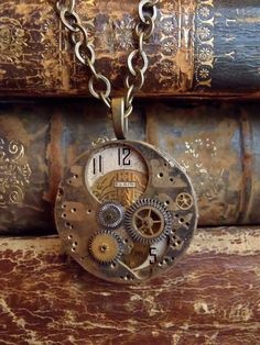 Orbit Steampunk watch parts Necklace Repurposed by steampunkjunq, $38.95