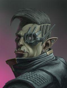 Ethan S Brewerton Illustrations Cyberpunk Games, Cyberpunk Rpg, Cyberpunk Character, Character Portraits, Character Art, Shadowrun Game, Character Design Cartoon, Sci Fi Characters, Illustrations