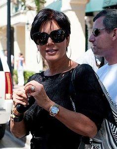 Kris Jenner wearing a Rolex Daytona Pink Gold watch #KrisJenner #Kardashian #RealityStar