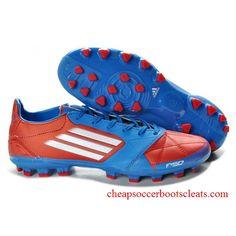 New F50 Adizero Soccer Cleats Men's F50 Adizero TRX AG Leather Micoach Bundle Soccer Boot red/blue/white