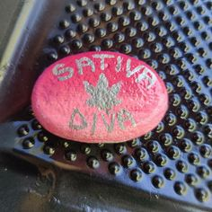 Sativa Diva! $15 + shipping and handling Painted Rocks For Sale, Hand Painted Rocks, Diva, Divas, Godly Woman