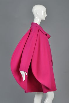 Iconic 1987 Pierre Cardin Haute Couture Fin-Backed Coat | From a collection of rare vintage coats and outerwear at https://www.1stdibs.com/fashion/clothing/coats-outerwear/