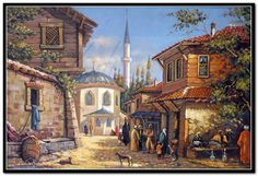 Site WoodWorking My Site Life - Just another wellmodels site Istanbul, Empire Ottoman, Turkish Art, Old Paintings, Autumn Art, Old Houses, Drawing Sketches, Home Art, Fantasy Art