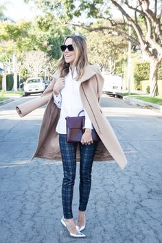 I'm pretty sure I need these plaid pants. Tan Jacket and Plaid Pants. Damsel in Dior Blog