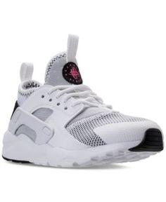 Nike Little Girls' Air Huarache Run Ultra Running Sneakers from Finish Line - White 2.5