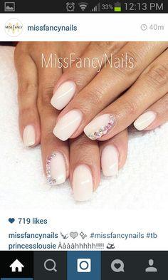 Nails crystals diamonds