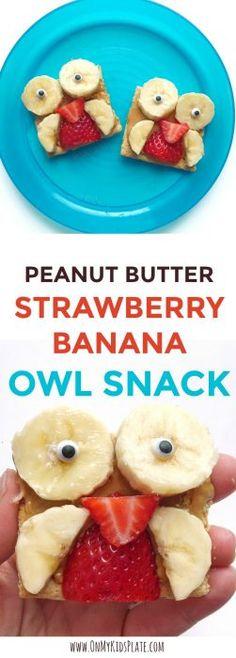 Peanut butter owl snacks