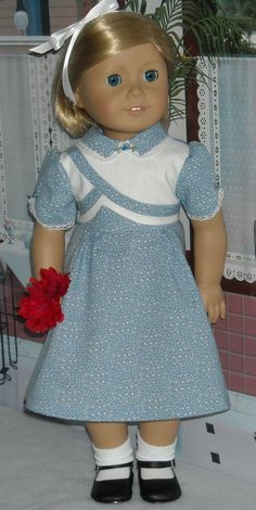 1930s Pale Blue Hearts Dress for Kit and Ruthie. $45.00, via Etsy.