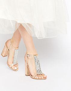 Image 1 ofASOS HOLIDAYS Embellished Heeled Sandals