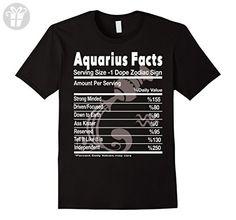Men s Aquarius Facts - Aquarius Funny T Shirt XL Black - Birthday shirts  ( Amazon ce0ab831ab7