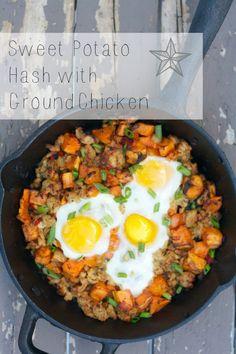 Sweet Potato Hash With Ground Chicken