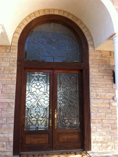 Beveled Glass collection #H doors with a custom transom to match. We can do & New and fabulous wood entry doors. Handcrafted with carvings and ...