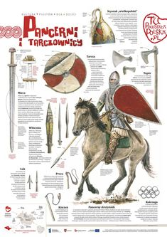 warriors of King Boleslav the Brave - first king of Poland; Medieval Weapons, Medieval Life, Medieval Knight, Vikings, Norman Knight, Poland History, Templer, Landsknecht, Asian History