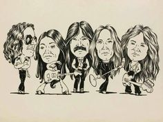 Deep Purple Mark IV in animation Tommy Bolin, Jon Lord, Rock Album Covers, Classic Rock Bands, Purple Band, Jimi Hendrix, Rock Music, Deep Purple, Heavy Metal