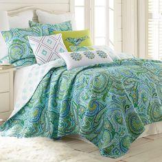 Darjeeling Quilt Set, Turquoise/Blue (Turq/Aqua)