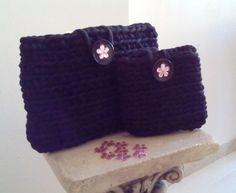 Conjunto de bolsos de mano  Handmade #trapillo niobehome.blogspot.com