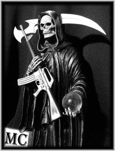soa reaper logos and states   Sons of Anarchy MC logo Reaper and Rocker, m16 rifle, NOT AK47, ar15