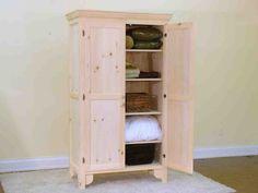 Linen Closet Cabinet - Home Furniture Design Linen Cabinet, Tall Cabinet Storage, Locker Storage, Gothic Furniture, Home Furniture, Furniture Design, 2 Panel Doors, Platform Deck, Home Repairs