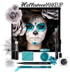 """""""Sugar Skull Halloween makeup"""" by pink1princess ❤ liked on Polyvore featuring beauty, Bobbi Brown Cosmetics, NARS Cosmetics, MAKE UP FOR EVER, shu uemura, Bourjois and Christian Dior"""