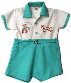 1940s/1950s cowboy shorts set