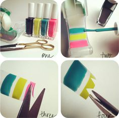 DIY nail stickers. These are just as cool as the one's you get in shops.