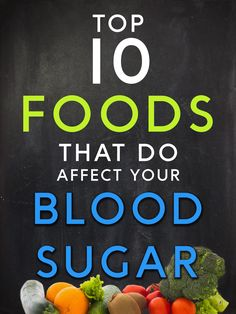 See the Top 10 Foods that DO affect your Blood Sugar Video: https://www.youtube.com/watch?v=c_HYfz_Ckok