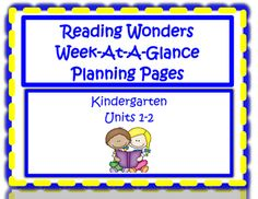 In the McGraw Hills Reading Wonders Series, each week contains many different ELA strategies, skills, and topics. These planning pages will be a great visual tool and assistance for you each week as you are writing your lesson plans! This packet only contains Units 1 and 2 for Kindergarten.