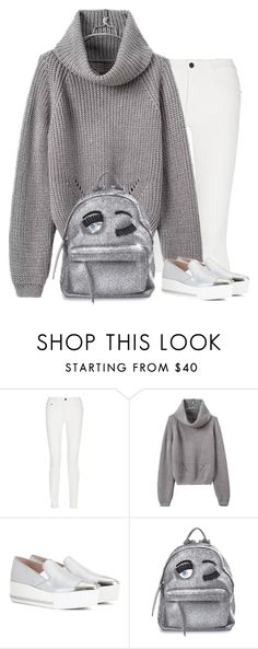 """""""Grey and white"""" by lenaick ❤ liked on Polyvore featuring Proenza Schouler, Miu Miu and Chiara Ferragni"""