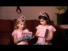 Sofia Grace and Rosie wishing Ellen Degeneres a happy birthday.  They are TOO adorable!  If you haven't seen their other visits to Ellen...you must!