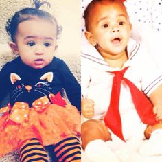 ✨Royalty and Chris Brown when he was a baby ✨
