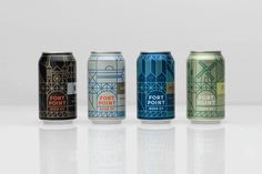 Package design for Fort Point Beer Company by San Francisco based graphic design studio Manual