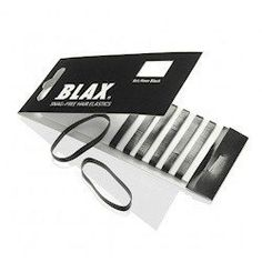 Blax Black Snag-Free Hair Elastics - 4mm Blax http://www.amazon.com/dp/B000BOA1C2/ref=cm_sw_r_pi_dp_2YvIvb16HCQXN  -  hair, ponytail, hopefully they don't break hair or pull it out.  available in multiple colors, i really like the pink.  I WANT THE PINK!     lj