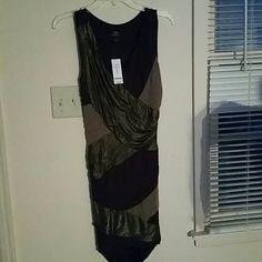 *REDUCED GORGEOUS NWT* Bebe dress NWT brown Bebe midi dress, size Small. BRAND NEW, NEVER been worn ! bebe Dresses Midi
