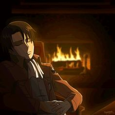 "Isayama has said that if he could say one thing to Levi, it would be, ""Go quickly to sleep,"" as Levi suffers from slight bouts of insomnia. and the result is only getting an average of 2–3 hours of sleep. a night. Also, Levi does not change clothes before going to sleep, as it is such a non-event for him. Rather than sleeping in a bed, Levi just sleeps in his chair, Cute"