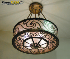 Custom metal chandelier lighting. This was created on a PlasmaCAM cnc plasma cutting table! #metalart #plasmacutting
