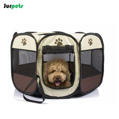 Foldable Octagonal Pet Tent Dog Fence Oxford Cloth Outdoor Cats Dogs Bed House Portable Dog Kennel Washable Small Large Dogs #Affiliate