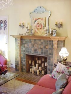 3 Generous Tips AND Tricks: Simple Fireplace Backyards small fireplace garden. Fake Fireplace Mantles, Unused Fireplace, Simple Fireplace, Candles In Fireplace, Fireplace Built Ins, Victorian Fireplace, Bedroom Fireplace, Fireplace Remodel, Living Room With Fireplace