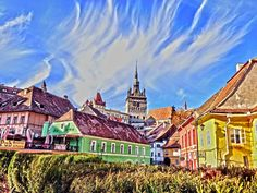 Five places in Sighisoara, Romania you will fall in love with at once Medieval Town, Medieval Castle, Photos Hd, Cool Photos, Pictures Images, Vampires, Dresden, Romanian Castles, Romania Travel