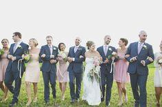 Navy, blush, champagne wedding