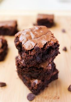 These are your classic, chewy, fudge-y brownies filled with partially melted chocolate chips. You and your family will love these brownies with dozens of rave reviews! #brownies #chocolate #christmas