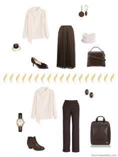 Dame au Chapeau by Gontcharova, Revisited for Autumn 2018 - The Vivienne Files Fall Capsule Wardrobe, Capsule Outfits, Capsule Clothing, Brown Pants Outfit, The Vivienne, Professional Attire, Piece Of Clothing, Wardrobes, Get Dressed