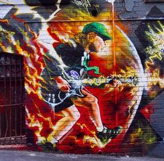 Australia's own Angus Young of AC/DC by Heesco in Melbourne, 2015 (LP)