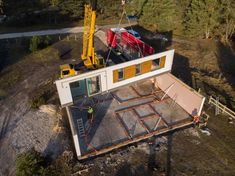 Realizacje - Balker - Producent domów prefabrykowanych. Domy z keramzytu A Frame House Plans, Metal Roof, Decoration, Construction, How To Plan, Living Room, Log Home, Decor, Building