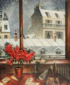 """""""Winter Time"""" by Christopher Nevinson"""