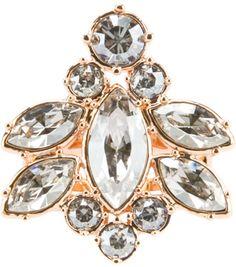 Mawi Silver Cut Crystal Ring
