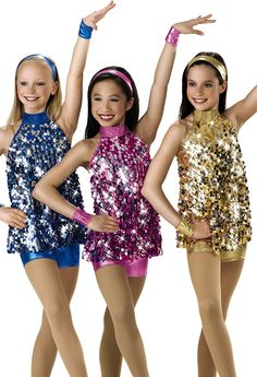 Spangle Trapeze Dance Top; Weissman Costumes