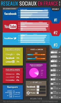 Social Networks in France #socialmedia #infography #infographic