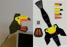 cool Toucan paper toy to decorate your desktop , by designer Markus ...