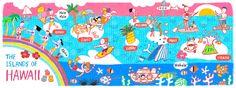 Hawaiian Islands by AW Illustrations