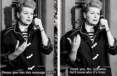 (one of my favorite) I Love Lucy: episode where Lucy can't find her passport and gets stuck behind at the Italy/France border check.